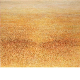 Artwork by Gabor Peterdi, Faded Marsh, Made of Oil on canvas