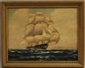 American School, 20th Century, Ship in Full Sail