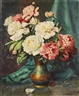 Mae Bennett Brown, Still Life with Pink and White Peonies