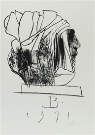 Artwork by Leonard Baskin, Leader, Made of lithograph