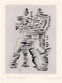Artwork by Ossip Zadkine, Figures, Made of etching