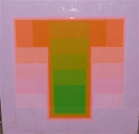 Artwork by Karl Gerstner, Color Sounds 111, Made of color serigraph
