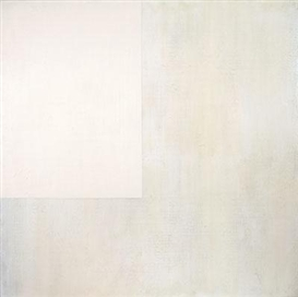 Artwork by Jerald Ieans, Beige minimalist composition, Made of mixed media with Elmer's glue on plywood panel