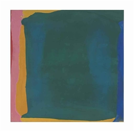Artwork by Helen Frankenthaler, Green Arena, Made of acrylic on canvas