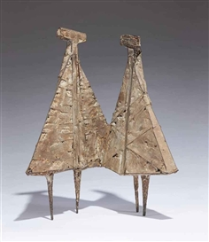 Artwork by Lynn Chadwick, Two Trigs, Made of iron and composition