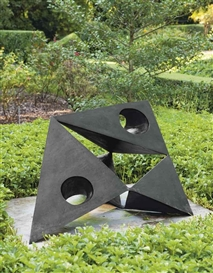 Artwork by Lynn Chadwick, Pyramids II, Made of bronze