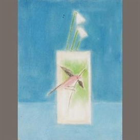 Craigie Aitchison, Bird and vase