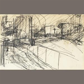 Artwork by Frank Auerbach, Drawing, Made of pencil