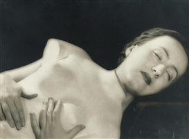 Artwork by Man Ray, Untitled (Femme allongée avec torse de la Vénus de Médicis), Made of Gelatin silver print