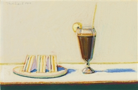 Wayne Thiebaud, Milkshake and Sandwiches