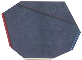 Artwork by Kenneth Noland, Gray Reflections, Made of Acrylic on canvas