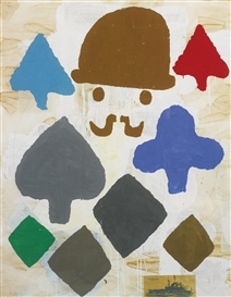 Donald Baechler, Composition with Hat