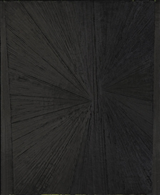 Mark Grotjahn, Untitled (Black Butterfly over Lime)