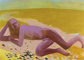 Artwork by Dana Schutz, Reclining Nude, Made of Oil on canvas