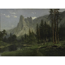 Artwork by William Keith, Sentinel Rock, Yosemite Valley, Made of Oil on canvas