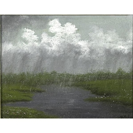 Artwork by Isaac Levitan, Rainy Paysage, Made of Oil on board