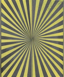 Mark Grotjahn, Untitled (Black and Canary Yellow Butterfly)