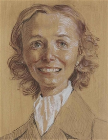 Artwork by John Currin, Anita Joy, Made of colored chalks, charcoal and wash on paper