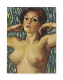 Artwork by John Currin, Untitled, Made of oil on canvas