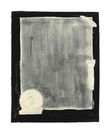 Artwork by Jasper Johns, Souvenir I, Made of graphite and ink on paper