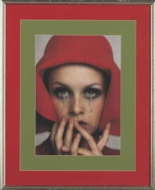 Artwork by Francesco Vezzoli, Hommage to Francesco Scavullo: Twiggy, Made of color laserprint on canvas and metallic embroidery
