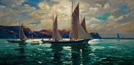 Artwork by Jonas Lie, Land's End, Made of Oil on canvas