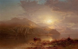 Artwork by Arthur Parton, Lake Scene, Made of Oil on canvas