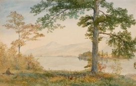 Artwork by John Henry Hill, Lake George in Autumn, Made of Watercolor on paper laid on wood panel