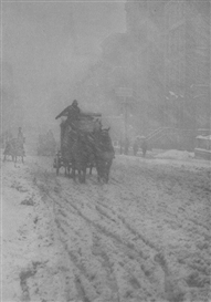 Artwork by Alfred Stieglitz, Winter, Fifth Avenue, Made of Photogravure