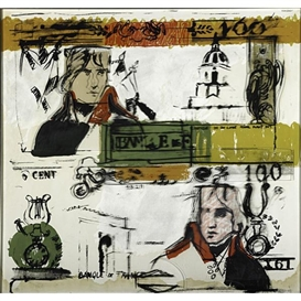 Artwork by Larry Rivers, Double French Money, Made of Screenprint