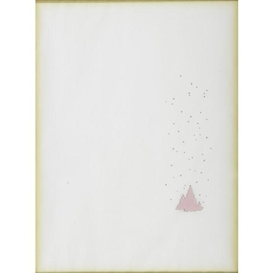 Artwork by Michael Jenkins, Untitled (Pink Snow and Trees), Untitled (Pink Dots), Made of Flashe and pencil on paper