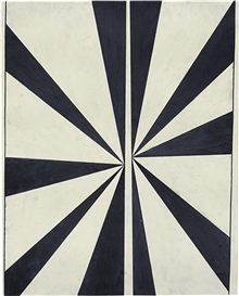 Artwork by Mark Grotjahn, Untitled (Black and Cream Butterfly #548), Made of crayon and graphite on paper