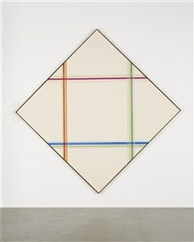 Artwork by Kenneth Noland, Hade, Made of acrylic on canvas