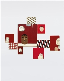 Artwork by Barry McGee, Untitled, Made of acrylic on wood panels