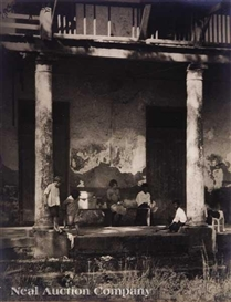 Artwork by Arnold Genthe, Plantation House, Made of silver gelatin print