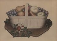 Artwork by Grant Wood, Fruits, Made of handcolored lithograph