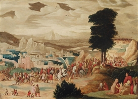 Artwork by Pieter Brueghel the Younger, Christ bearing the cross, Made of Oil on panel
