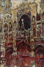 Vik Muniz, Rouen Cathedral Façade (Gray Day), after Claude Monet (from Pictures of Pigment)