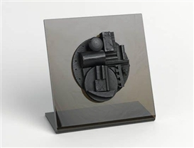 Artwork by Louise Nevelson, Collegiate School Wood Multiple, Made of Wood multiple painted in black