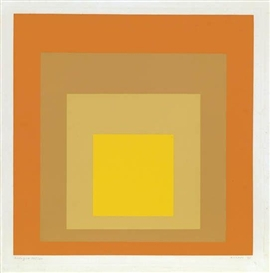 Artwork by Josef Albers, Allegro, Made of Color screenprint on Mohawk Superfine Bristol