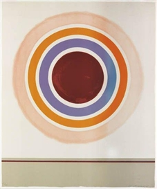 Artwork by Kenneth Noland, Blush, Made of Color lithograph printed on white Rives BFK mould-made paper