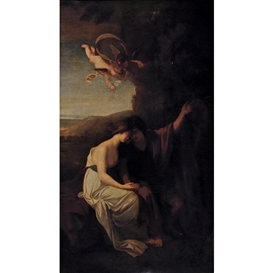Artwork by Benjamin West, Angelica and Medoro, Made of Oil on canvas