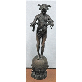 Artwork by Frederick William MacMonnies, Pan of Rohallion, Made of Bronze