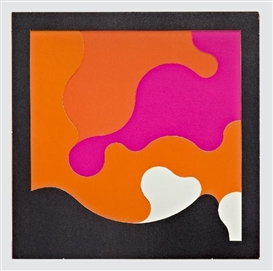Artwork by Karl Gerstner, AlgoRhythmus 3, Made of silkscreen on carton