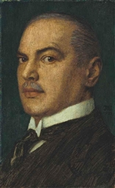 Artwork by Franz von Stuck, A Self-portrait, Made of oil on board