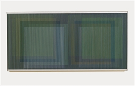 Artwork by Carlos Cruz-Diez, Physichromie, Made of Acrylic and plastic elements on wood panel with metal frame