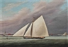 J. Rogers , The racing cutter  Little Vixen  approaching the finishing mark of The Royal Thames Yacht Club to win the 35 Class prize, 29 t h July 1841