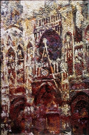 Vik Muniz, Rouen Cathedral Facade: Gray day, after Claude Monet (Picture of Pigment)
