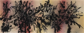 Artwork by Jean-Paul Riopelle, Sans titre, Made of watercolour and ink on paper on board