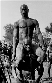 Artwork by George Rodger, The Victor of a Korongo Nuba Wrestling Match, Made of Gelatin silver print